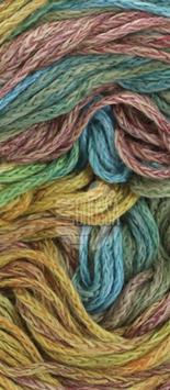 Alta Moda Cotolana Print Farbe 101, Türkis/Mint/Curry/Braun/Camel, Edles Kettengarn aus Merino und Pima Baumwolle