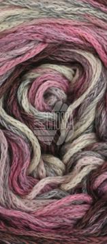 Alta Moda Cotolana Print Farbe 104, Graubraun/Dunkelgrau/Grau/Rosa/Flieder/Altrosa, Edles Kettengarn aus Merino und Pima Baumwolle