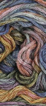 Alta Moda Cotolana Print Farbe 105, Gelb/Ocker/Flieder/Graugrün/Jeans/Marine/Antikviolett, Edles Kettengarn aus Merino und Pima Baumwolle