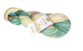Ecopuno Hand - Dyed Farbe 509 Chandra, Edles Garn aus Baumwolle mit Merino und Alpaka