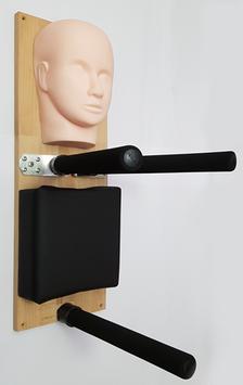 Wooden-Dummy alternative light / Wing Chun Kung Fu / Head-Model