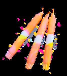 Melange van fluor roze & geel