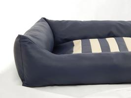 pippaKOJE - Hundebett maritim - blau/beige