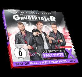 CD DELUXE - Die Grubertaler - Die größten Partyhits - Volume X - inkl. DVD