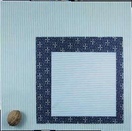 Wildwax Tuch Set (S,M&L) Streifen Türkis/Ornamente
