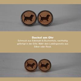 Ohrringe aus Holz / Silber