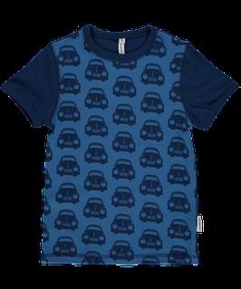 Maxomorra Shirt SS Front Cars Blue