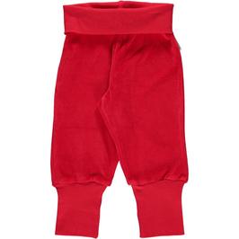 Maxomorra Pants Rib Red Velour