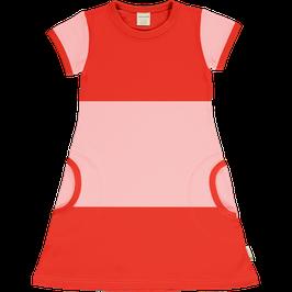 Maxomorra Dress SS Block Poppy Blossom
