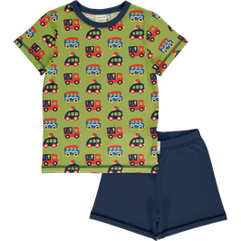 Maxomorra Pyjama SS Colourful Cars