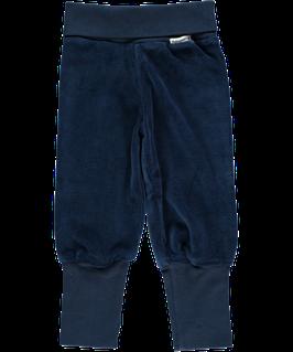 Maxomorra Pants Rib Dark Blue Velour