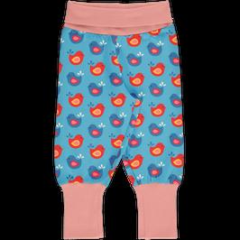 Maxomorra Pants Rib Bright Birds