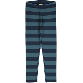Maxomorra Leggings Stripe Midnight