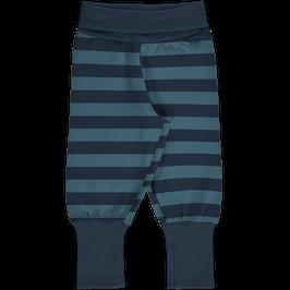 Maxomorra Pants Rib Stripe Midnight