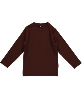 Maxomorra Shirt LS Basic Dark Brown
