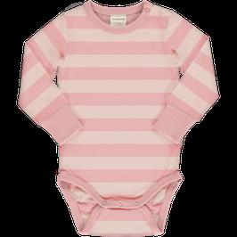 Maxomorra Body LS Stripe Dusty Pink