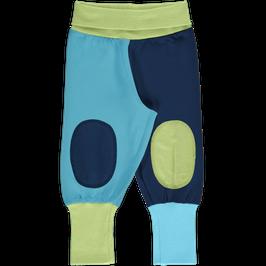 Maxomorra Pants Rib Block Green/Blue