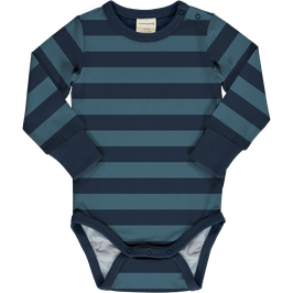 Maxomorra Body LS Stripe Marine