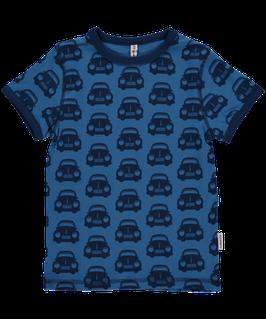 Maxomorra Shirt SS Cars Blue  - Der Klassiker