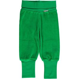 Maxomorra Pants Rib Green Velour