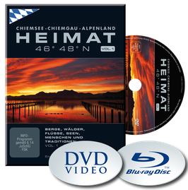 HEIMAT 46° 48° N - Chiemsee, Chiemgau, Alpenland  |  VOL. 1 - Blu Ray | Sommer-Herbst