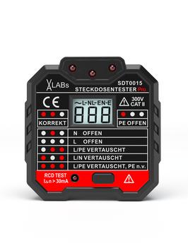 SDT0015: VA-LABs Steckdosentester mit RCD-Prüfung und LCD