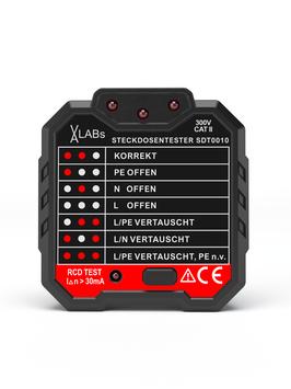SDT0010: VA-LABs Steckdosentester mit RCD-Prüfung