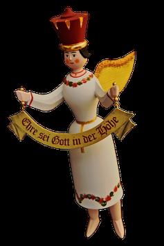 Schwebeengel Gloria mit Spruchband