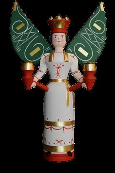 Engel Hannah mit grünen Flügeln