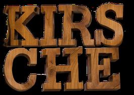 Holzbuchstaben aus Kirsche