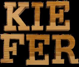 Holzbuchstabe aus Kiefer