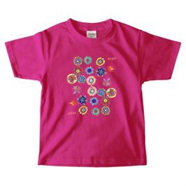 ショバ・クマーリちゃんデザイン PrintstarヘビーウェイトTシャツ(キッズ)ホットピンク