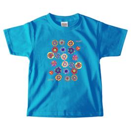 ショバ・クマーリちゃんデザイン PrintstarヘビーウェイトTシャツ(キッズ)ターコイズ