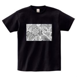 ディワーカル君デザイン「草と花」printstar ヘビーウェイトTシャツ ブラック