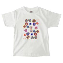 ショバ・クマーリちゃんデザイン PrintstarヘビーウェイトTシャツ(キッズ)ホワイト