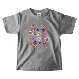ショバ・クマーリちゃんデザイン PrintstarヘビーウェイトTシャツ(キッズ)グレイ