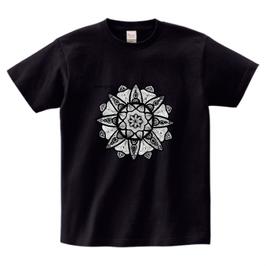 スシャント君デザイン「蓮の花」printstar ヘビーウェイトTシャツ ブラック
