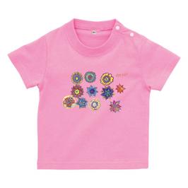 ショバ・クマーリちゃんデザイン ベイビーTシャツ ピンク