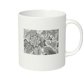 ディワーカル君のデザイン「草と花」マグカップ(ホワイトorアイボリー)