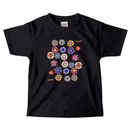 ショバ・クマーリちゃんデザイン PrintstarヘビーウェイトTシャツ(キッズ)ブラック