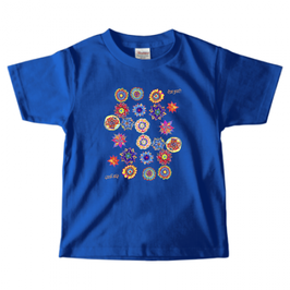 ショバ・クマーリちゃんデザイン PrintstarヘビーウェイトTシャツ(キッズ)ロイヤルブルー