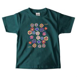 ショバ・クマーリちゃんデザイン PrintstarヘビーウェイトTシャツ(キッズ)エメラルド