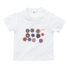ショバ・クマーリちゃんデザイン ベイビーTシャツ ホワイト