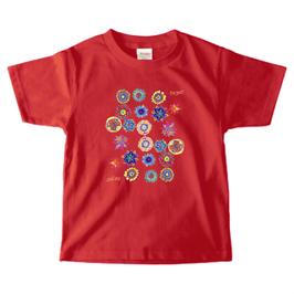 ショバ・クマーリちゃんデザイン PrintstarヘビーウェイトTシャツ(キッズ)ガーネットレッド