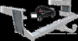 Attelage de remorque variable 12,5 kN avec des plaques de déport et jeu de câbles électriques Ford Transit à partir 12/2012 avec préparation
