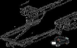 Attelage de remorque variable 12,5 kN avec jeu de câbles électriques et rallonge de châssis Ford Transit FT350 plancher avec préparation