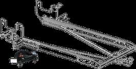 Attelage de remorque variable 12,5 kN avec jeu de câbles électriques et rallonge de châssis Ford Transit plancher à partir 2014 avec préparation