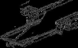 Attelage de remorque variable 12,5 kN avec rallonge de châssis Ford Transit FT350 plancher