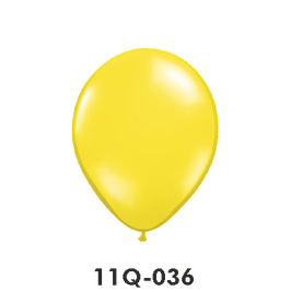Qualatex-Rundballons Transparent zitronengelb