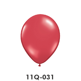Qualatex-Rundballons Transparent rubinrot